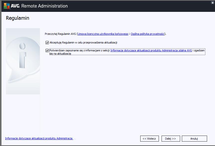 Jak krok po kroku zaktualizować AVG Business Management Console.