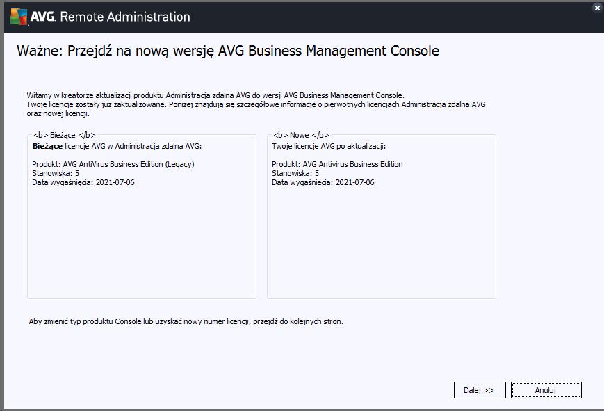 Szybki poradnik jak krok po kroku wykonać migracje do AVG Business Management Console.